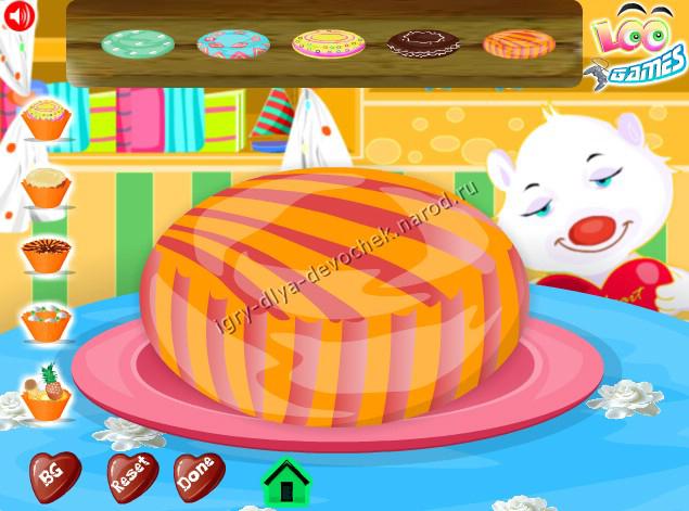 Игры для девочек приготовления торта